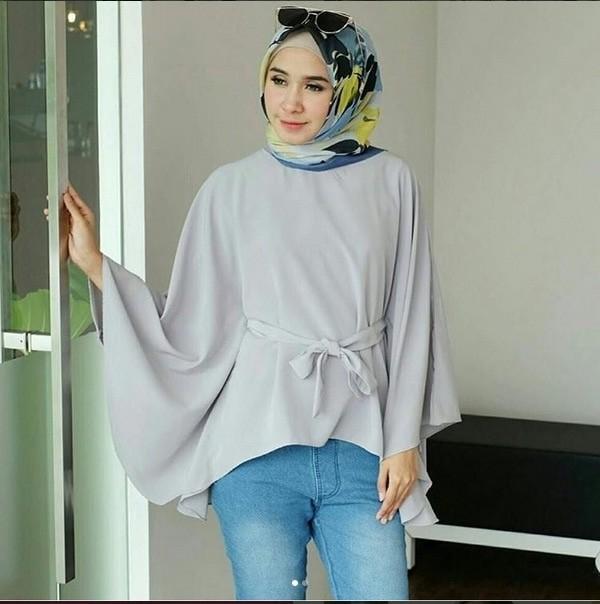 Jual Grosir Baju Atasan Muslim Wanita Murah Terbaru   Nurul Batwing ... c37e689d4a