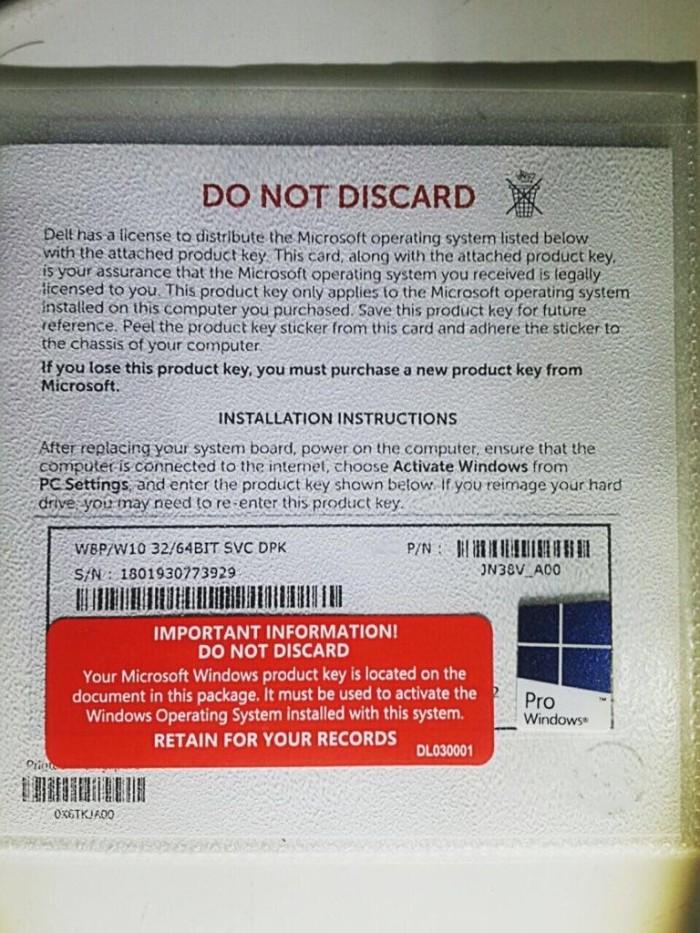 harga Windows 10 pro 32 / 64 bit original Tokopedia.com