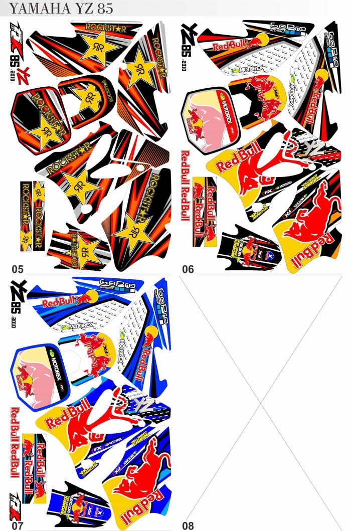 harga Striping*decal*sticker* yamaha trail yz 85 Tokopedia.com