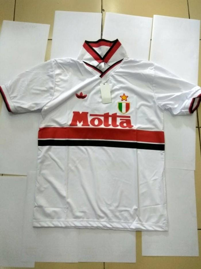 harga Jersey ac milan retro 92/93 away motta Tokopedia.com