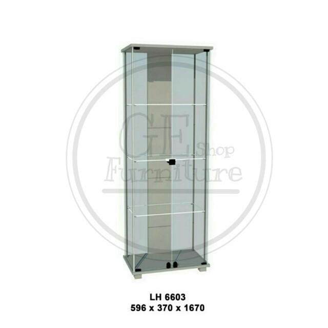 harga Lemari etalase / lemari hias full kaca lh 6603 free ongkir Tokopedia.com
