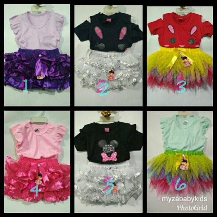 harga Dress baju pesta setelan tutu dan kaos bayi anak perempuan 1-2 y Tokopedia.com