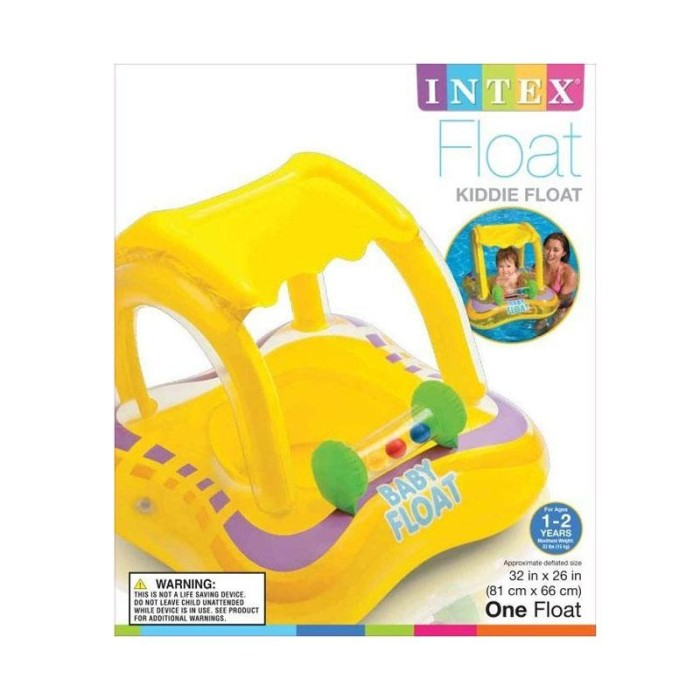 Intex 56581 Inflatable Baby Float Boat Pelampung Renang Anak Kuning .