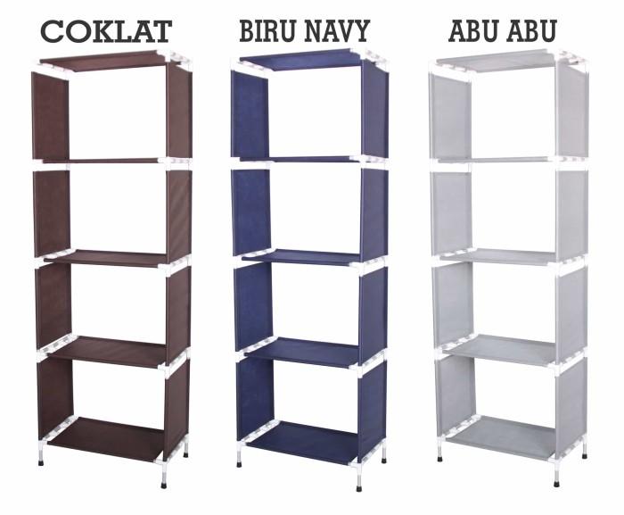 harga Rak buku portable aluminium minimalis serbaguna 5 susun a428 Tokopedia.com