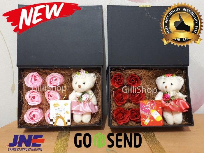 Jual New 6 Mawar sabun Box Buku + Pita +boneka ba05d9a2ca