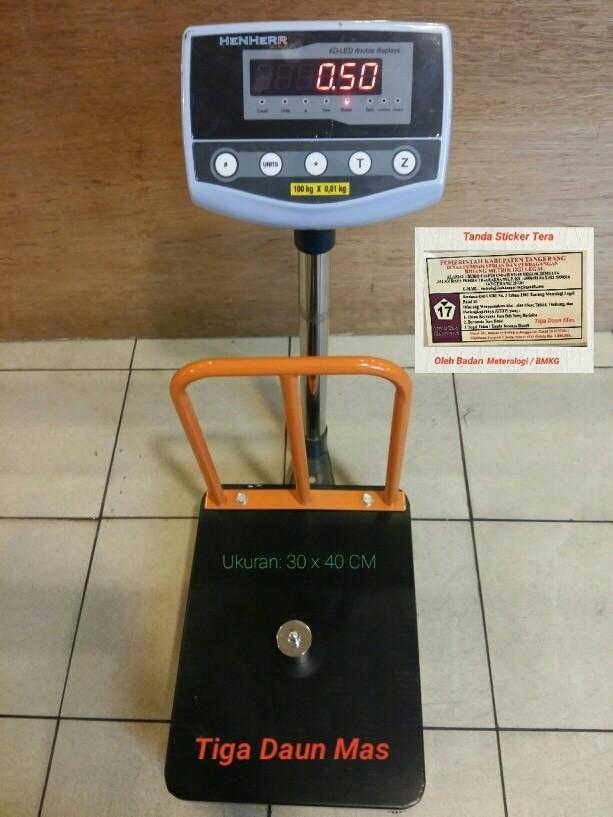 harga Timbangan duduk / timbangan lantai / bench scale 100 kg + pagar Tokopedia.com