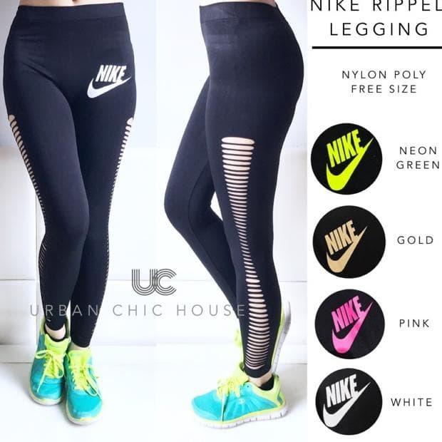 Jual Pakaian Senam Wanita Nike Ripped Celana Legging Jakarta Pusat Fast Order Tokopedia
