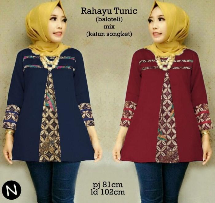 62215 Rahayu Tunic/baju Tunik Murah/atasan Muslim Wanita Murah