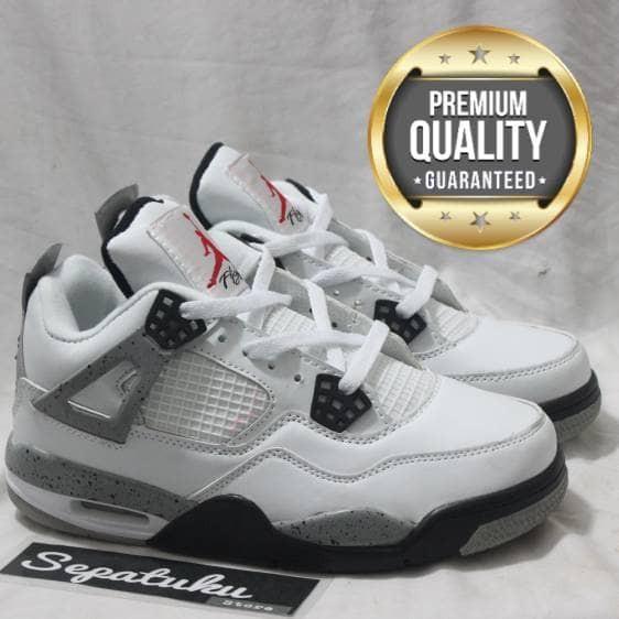 ... harga Sepatu nike air jordan 4 og retro white cement - premium quality  Tokopedia.com a41302e878