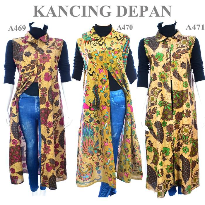 Jual Atasan Batik Blouse Muslim Batik Wanita Outer A460a470a471