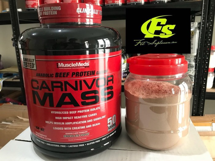 harga Carnivor mass ecer eceran carnivormass 2 lbs 2lbs musclemeds susu gym Tokopedia.com