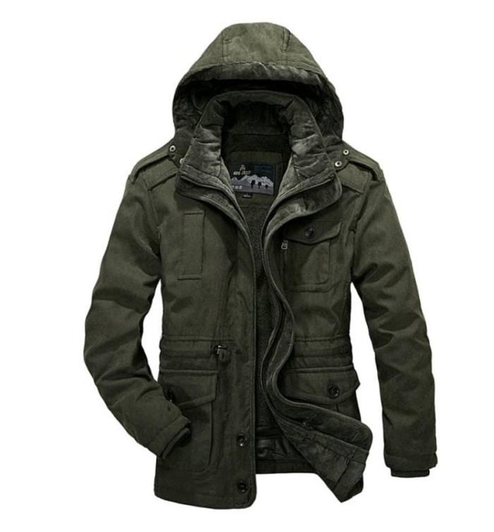 Jual jacket impor afs jeep warna green ukuran L - dery jacket ... 365031c9fc