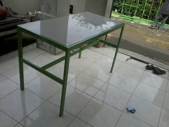 Jual Meja Besi Alas Keramik 60x60 X2pcs Kab Deli Serdang