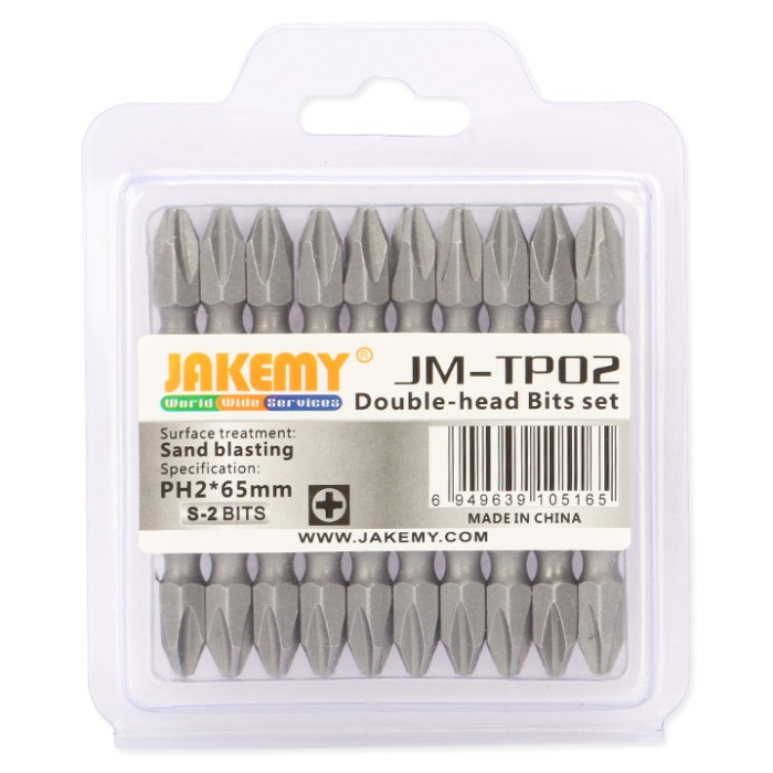 harga Jakemy 10 double head bits ph2 65mm - jm-tp02 Tokopedia.com
