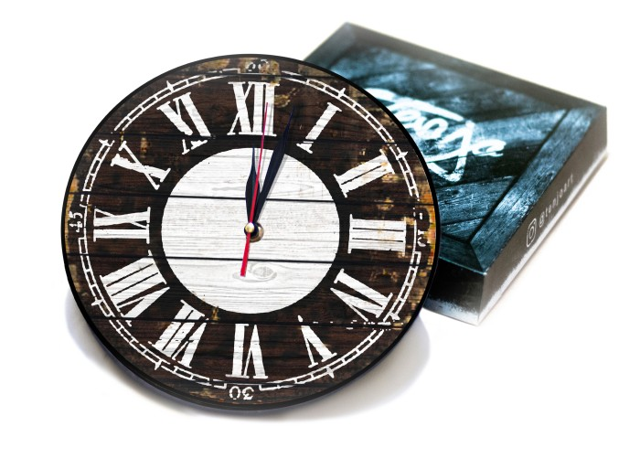 harga Jam dinding vintage kayu classic dengan design yang modern 30cm Tokopedia.com