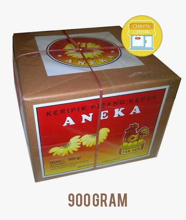 Keripik Pisang Coklat Aneka Yen-Yen Lampung Kemasan Box 900g
