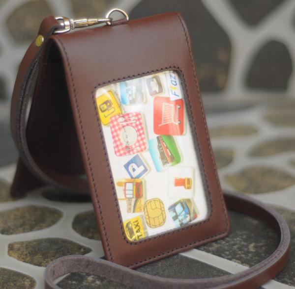 harga Limited edition name tag id card holder double magnet tali kulit karya Tokopedia.com