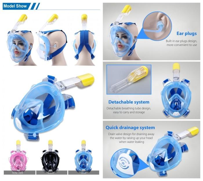 harga Underwater scuba diving masker snorkeling full face - olb2428 Tokopedia.com