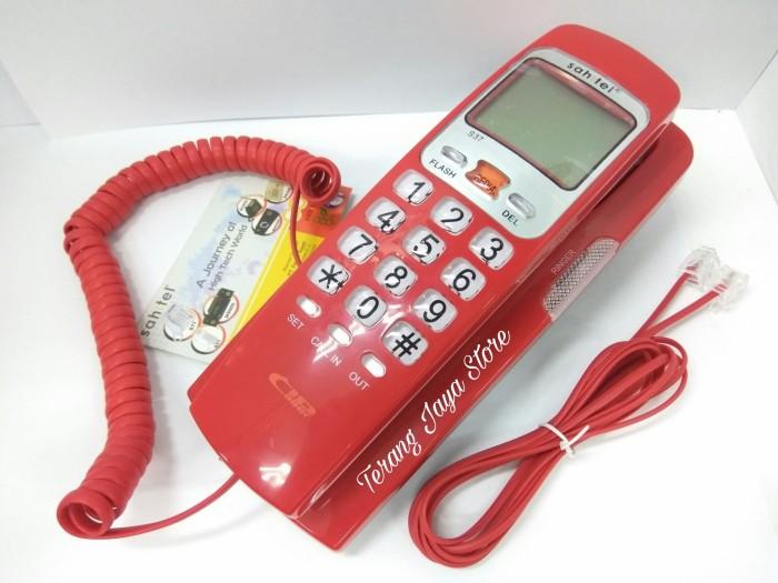 harga Telepon kabel sahitel s37 pesawat telepon rumah sahitel s-37 (merah) Tokopedia.com