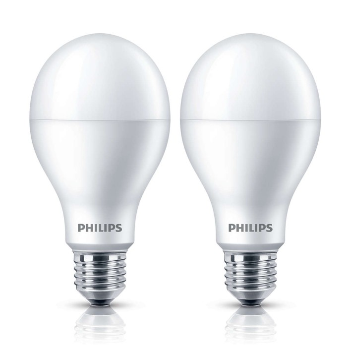 Philips lampu led bulb 19 watt e27 6500k 230v putih 2 unit