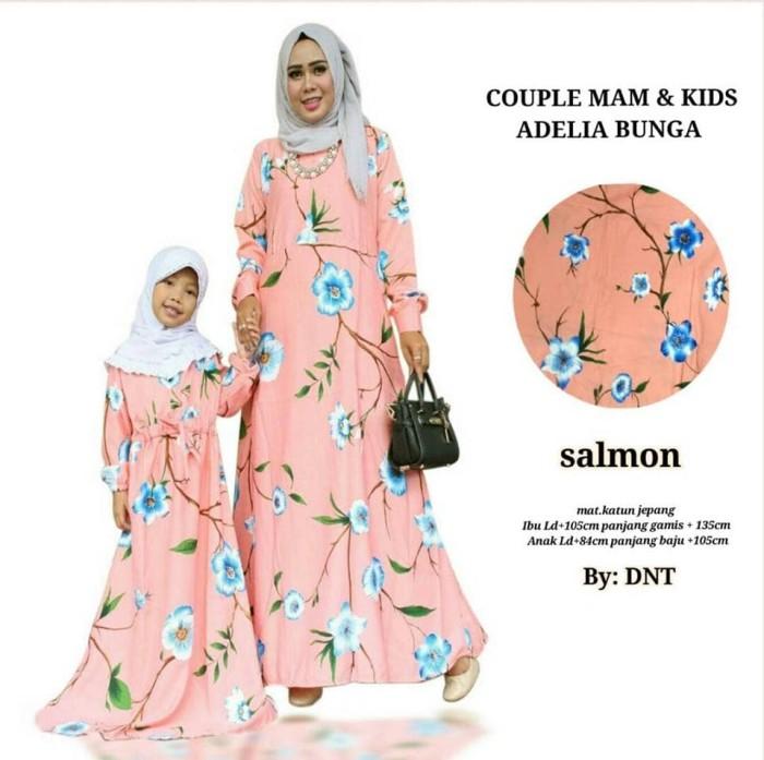 Couple batik sarimbit gamis baju pesta seragam Mam & Kids Adelia