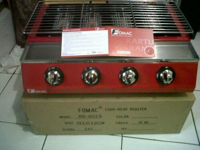 FOMAC ROASTER ROS GK222 - KOMPOR / PEMANGGANG GAS TANPA ASAP 4 HEAD