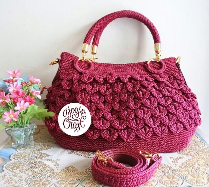 Djogja Klasik Craft Tas Rajut Hobo Ulir Sisik Maroon Daftar Harga Source · Djeka craft tas