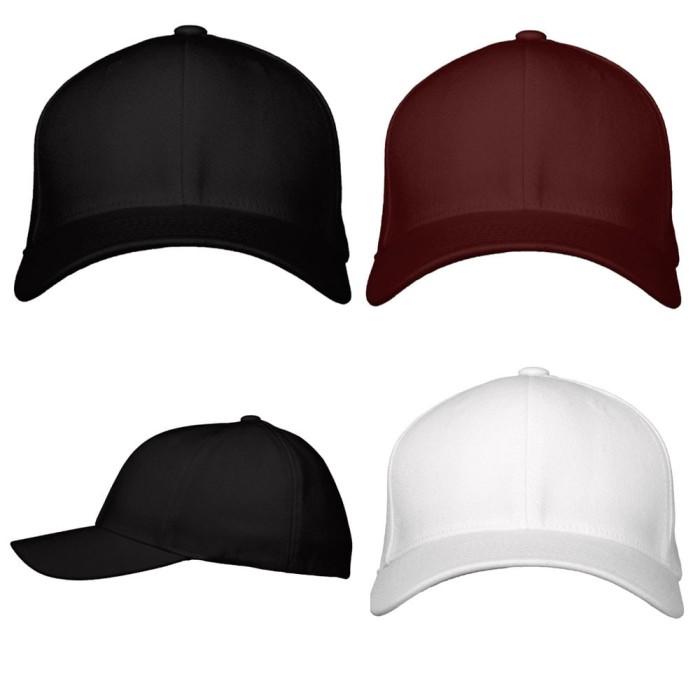 Jual Topi Baseball Polos Hitam Putih Merah Marun Kasual Basebal ... 1dcea996de