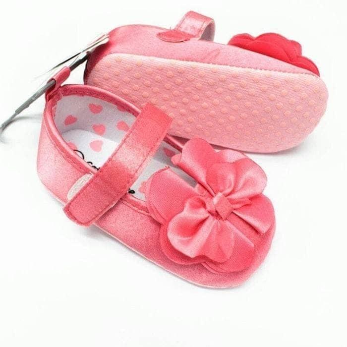 harga Sepatu prewalker pesta bayi perempuan import pink pita besar elegan Tokopedia.com