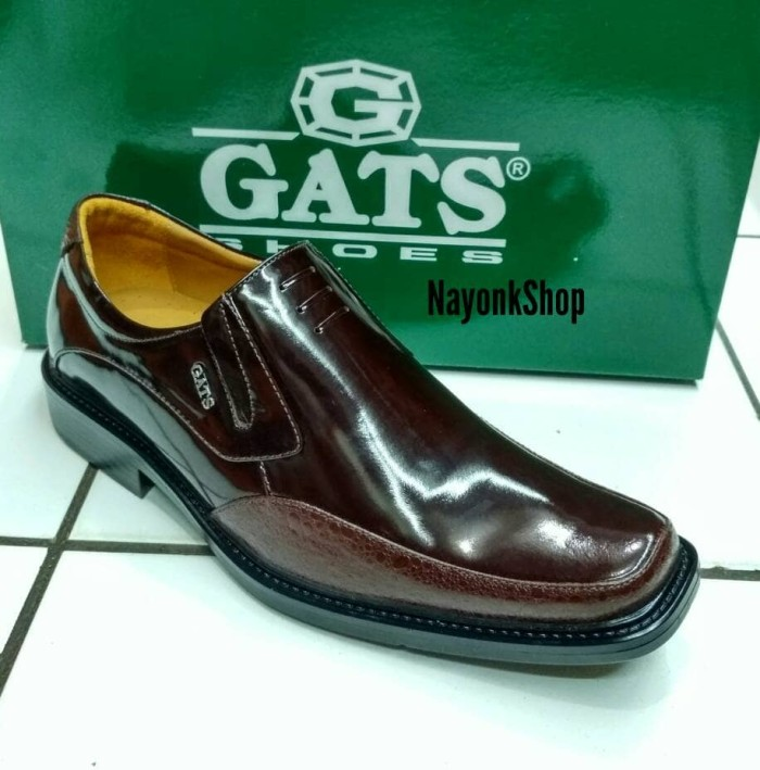 harga Sepatu pantofel kulit gats kc 2222 brown. original Tokopedia.com