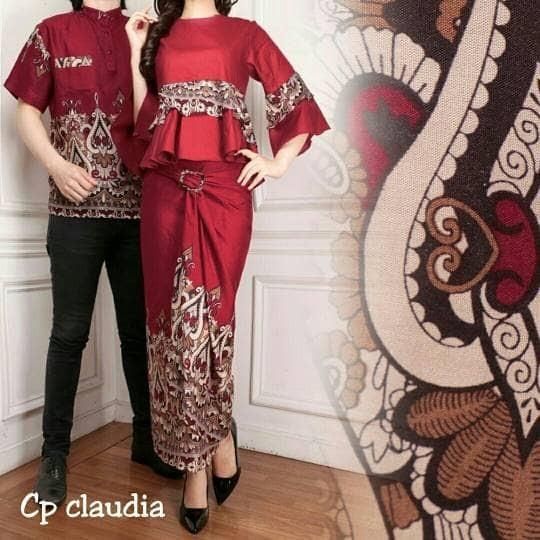 harga Cp ladia maroon batik couple kebaya couple baju pesta couple Tokopedia.com
