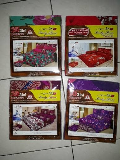 sprei lady rose queen 160x200 - Lembayung