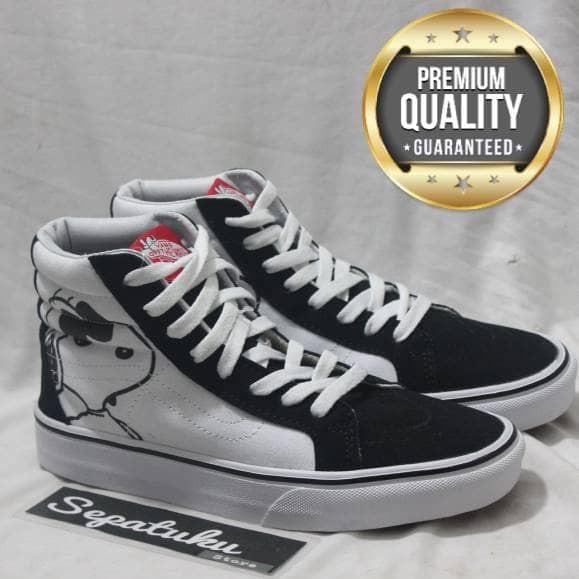 0245adf3b6 Jual Sepatu Vans X Peanuts SK8 Hi REISSUE - Premium Quality - Kota ...