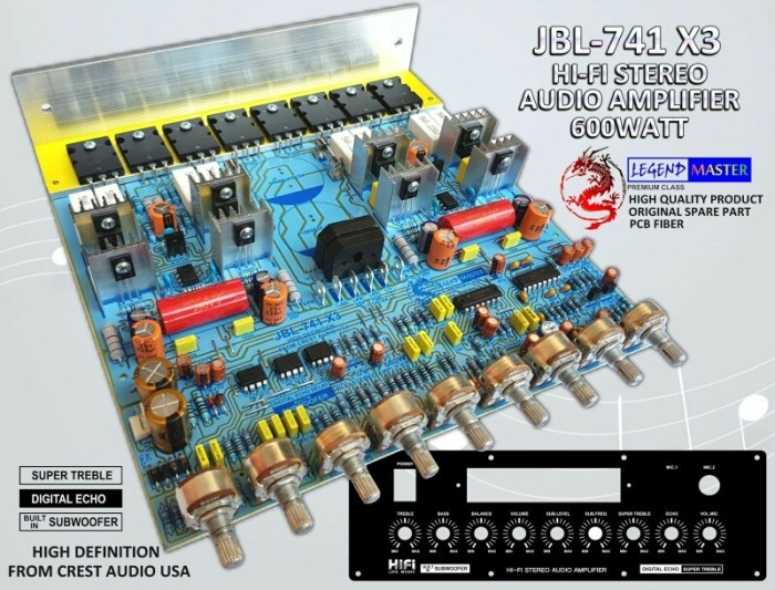 harga Kit power amplifier stereo 600w jbl-741 x3 Tokopedia.com
