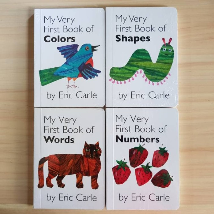 Jual ERIC CARLE - MY VERY FIRST BOOK OF : COLORS / SHAPES / WORDS ...
