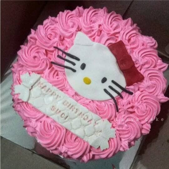 Jual Kue Ulang Tahun Hello Kitty Kue Hello Kitty Ukuran 20x20 Kota Tangerang Larya Cake Tokopedia