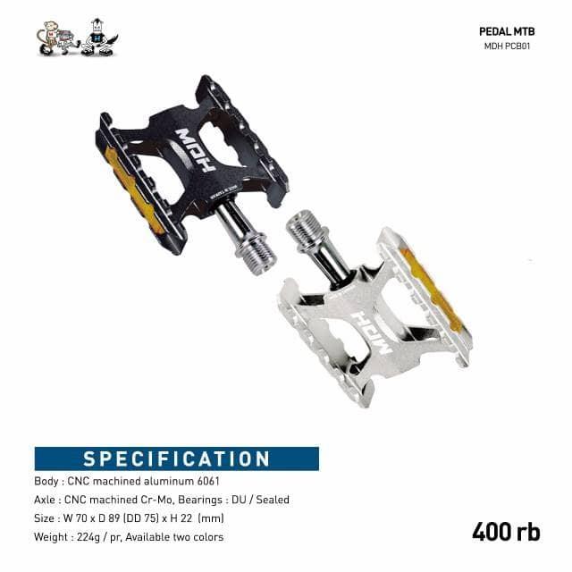 harga Pedal sepeda mdh on-road sealed bearing Tokopedia.com