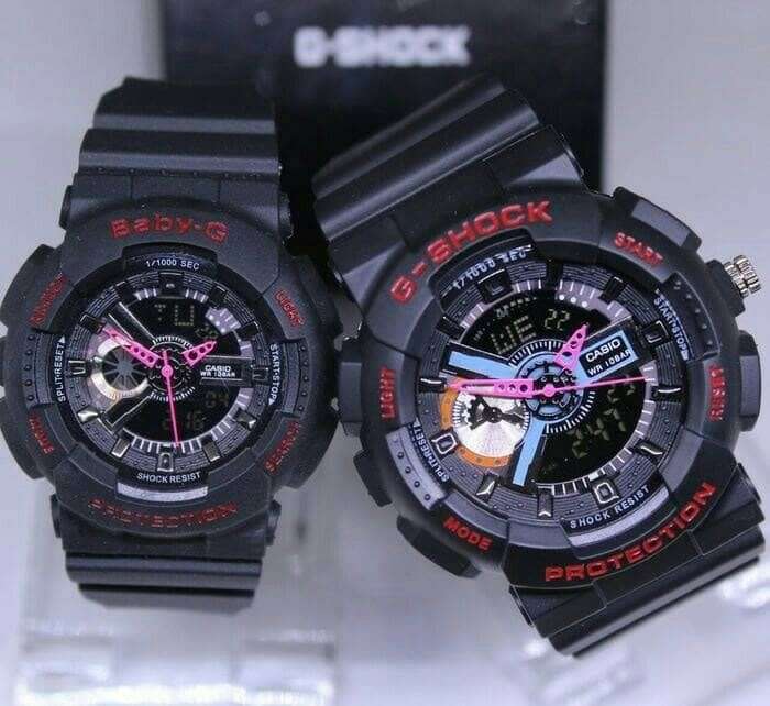 Jual JAM TANGAN COUPLE G-SHOCK GA110 BABY-G BLACK LIST RED DUAL TIME ... f3c455d943