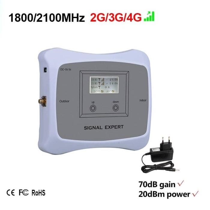 harga Smart repeater 3g / 4g lte dual band 2100 / 1800 mhz penguat sinyal hp Tokopedia.com