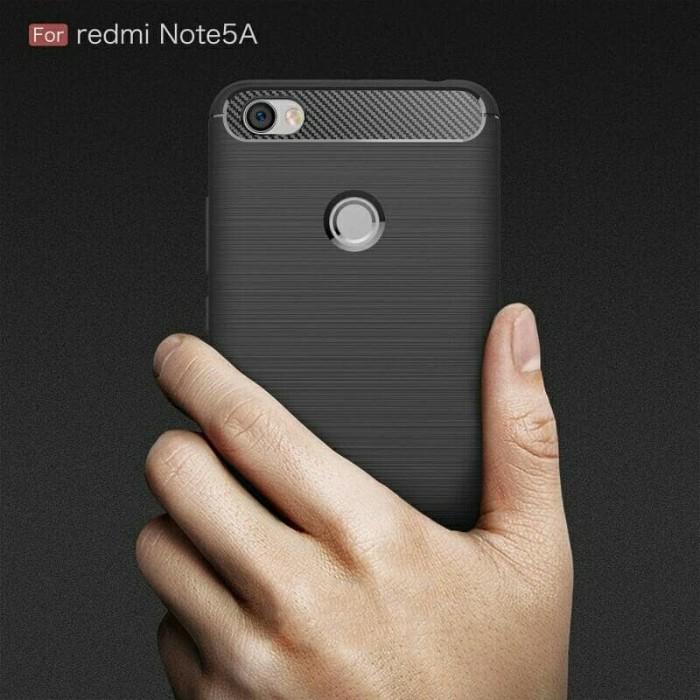 Casing Soft case Ipaky Carbon Xiaomi Redmi Note 5A Casing fiber Redmi