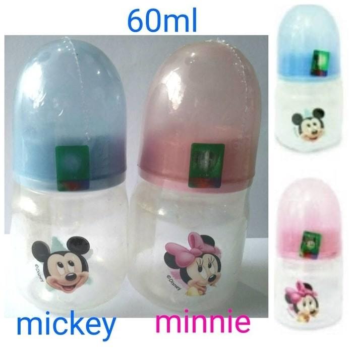 harga Botol susu bayi lynea mickey blue miki minnie pink mini 60ml bpa free Tokopedia.com