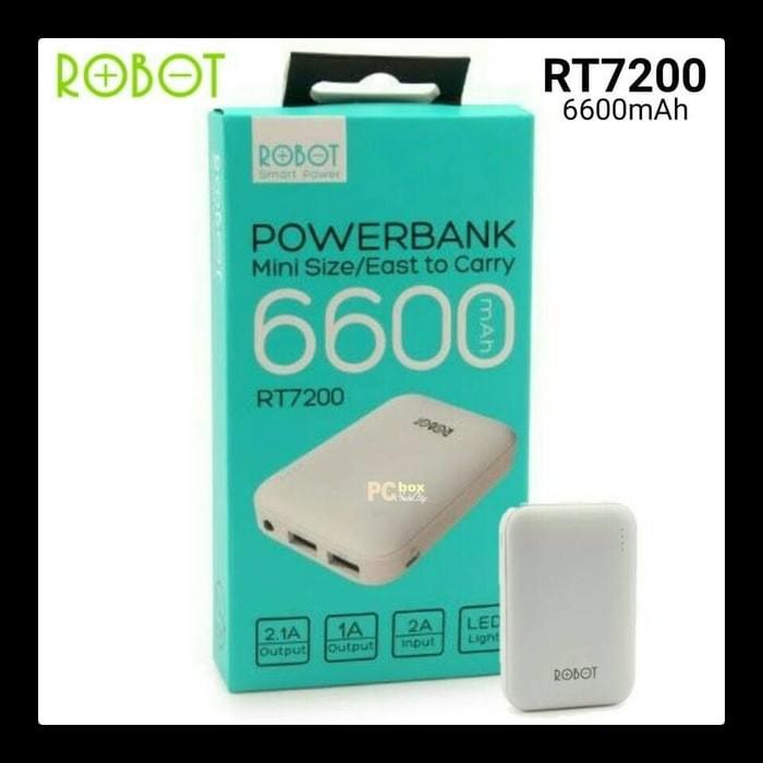 harga Power bank robot rt7200 6600mah 2 usb powerbank vivan original robot Tokopedia.com