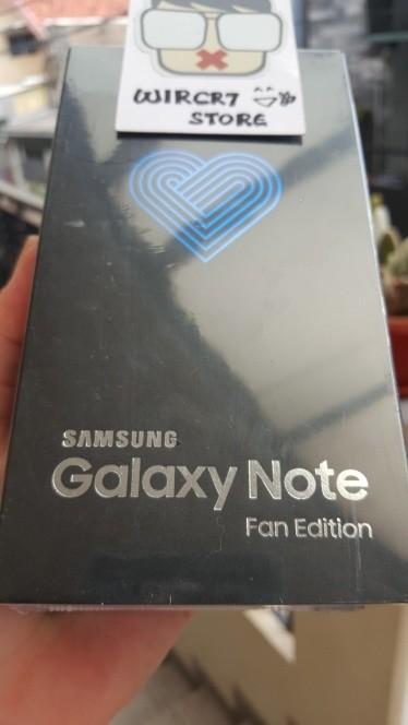 NEW SAMSUNG GALAXY NOTE FE 4GB / 64GB FREE CASE GARANSI RESMI SEIN - Hitam