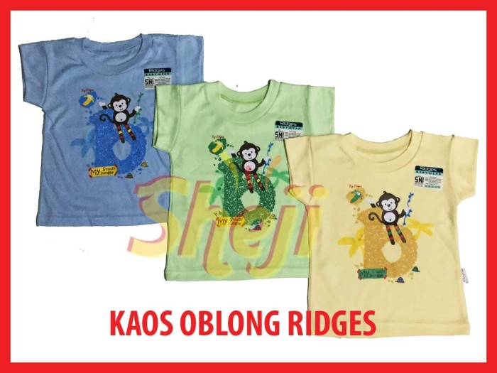 3 pcs size xl kaos anak oblong ridges baju harian banana monkey