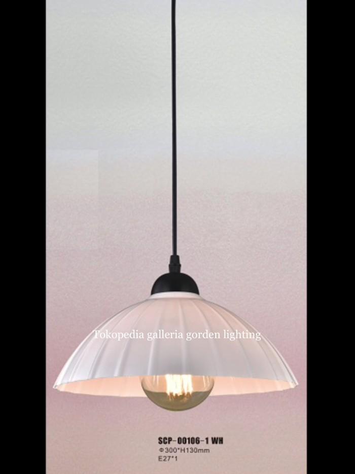 Jual Lampu Gantung Dekorasi Meja Makan Minimalis 00106 1 Wh Dki Jakarta Galleria Gorden Lighting Tokopedia