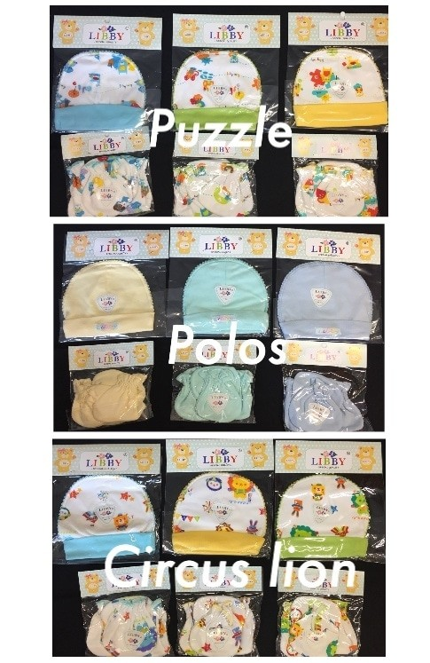 Foto Produk Set Sarung Tangan + Sarung Kaki + Topi Newborn Libby dari Jihan Rafawati Store