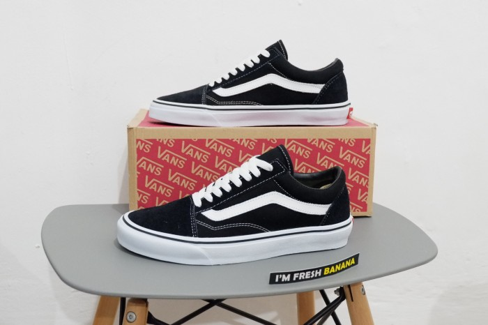 Sepatu vans old skool classic black white dt premium oldskool 1eaa6979ce