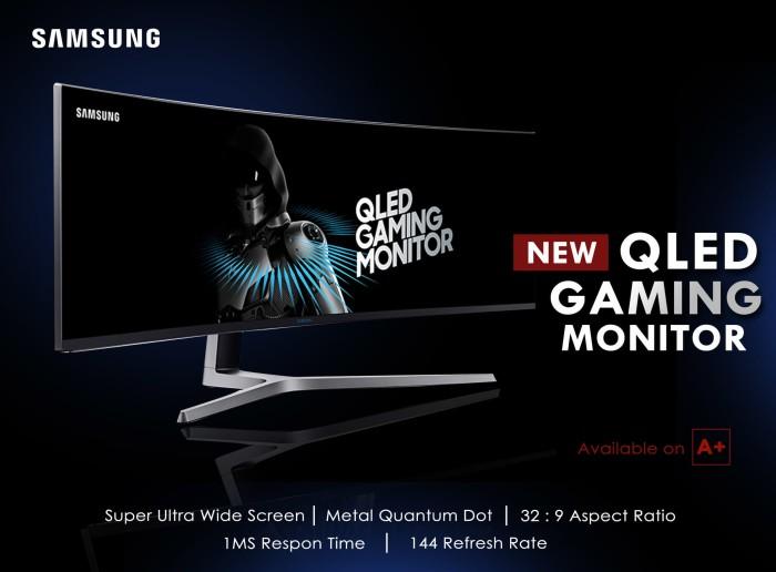 Jual Samsung QLED Gaming Monitor LC49HG90DME 49 Inch Super Ultra Wide -  Kota Blitar - A+ | Tokopedia