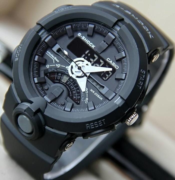 Jual JAM TANGAN G SHOCK DOUBLETIME GA500 FULL BLACK WATERRESISTAN ... c654ef666a