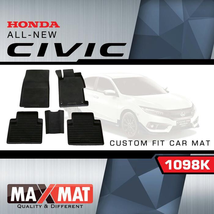Karpet mobil maxmat / karpet mangkok 3d custom all new civic turbo